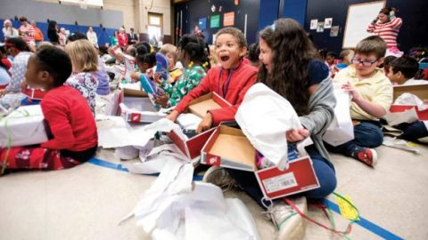 Overton students receive almost 400 pairs of new running shoes